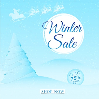 Winter sale banner.
