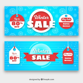 Winter sale banners
