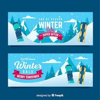 Зимние рекламные баннеры