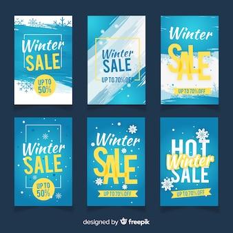 Winter sale cards set