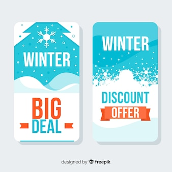 Winter sale cards