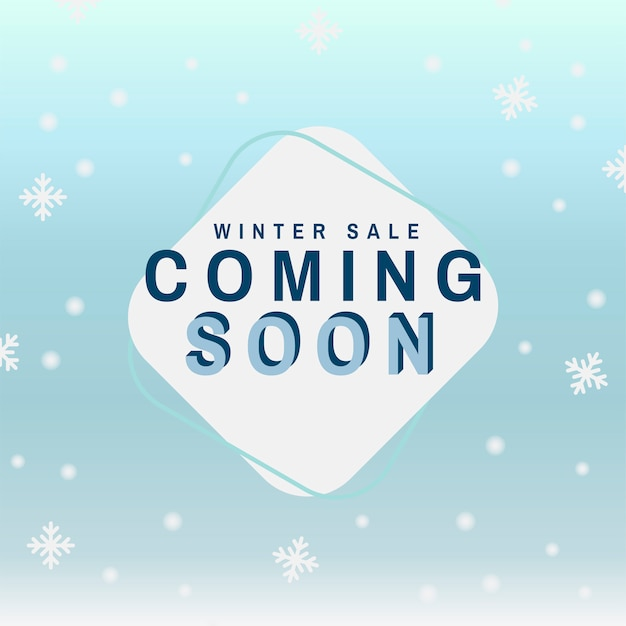 Winter sale coming soon vector