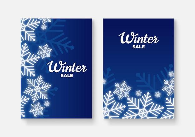 Winter sale cover design background
