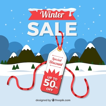 Winter sale design with label