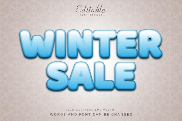 Зимняя распродажа редактируемый текстовый эффект eps векторный файл