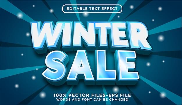Редактируемый текстовый эффект зимней распродажи премиум векторы