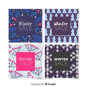 Winter sale flat card collection