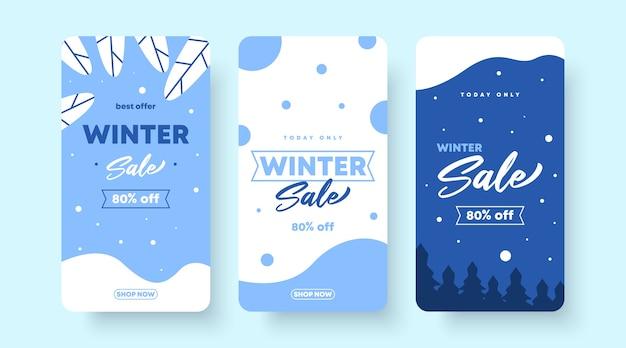 Winter sale flyer banner background illustration