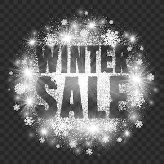 Winter sale illustration transparent