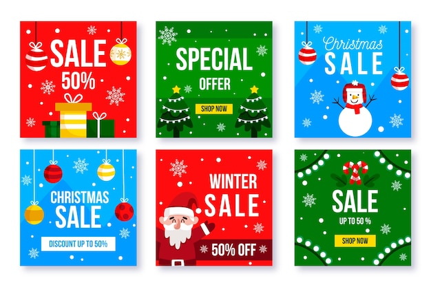 Winter sale instagram post collection