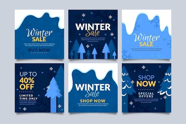Winter sale instagram posts