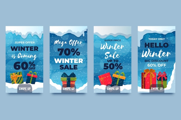 冬のセールinstagramストーリーコレクション