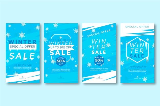 Winter sale instagram stories collection