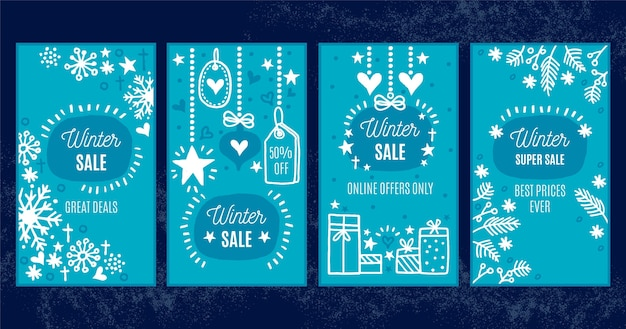 Winter sale instagram stories