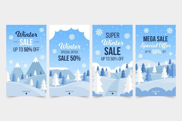 Winter sale instagram stories