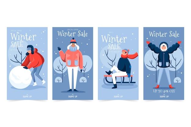 冬のセールインスタグラムストーリー