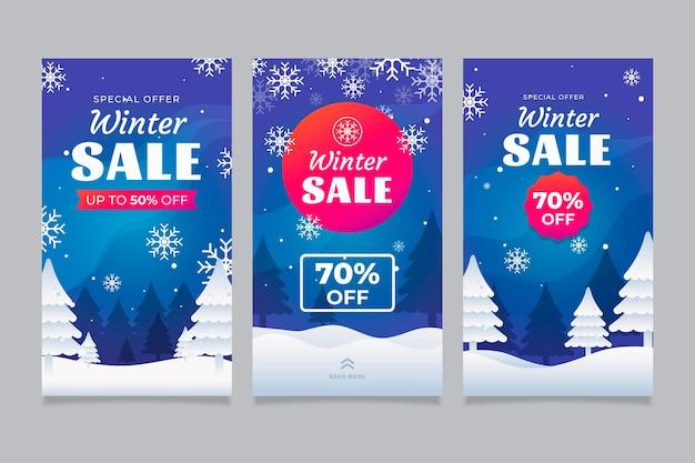 Зимние распродажи instagram рассказы