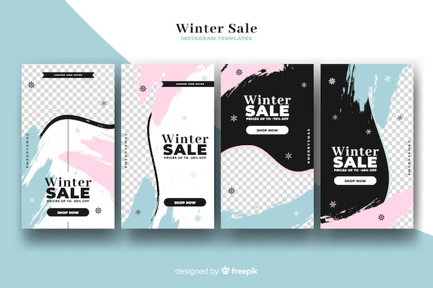 Winter sale instagram story collection