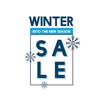 Winter sale into the new season vector