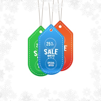 Winter sale label