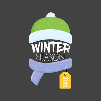 Winter sale labels and banner. vector illustration. web banners, advertisements, brochures, business templates
