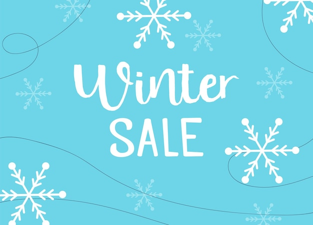 Winter sale poster design template or background. creative business promotional vector. discount offer for christmas holiday banner. winter season clearance special marketing card.