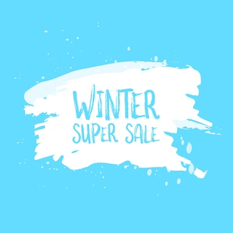 Winter sale poster design template or background. creative business promotional vector.
