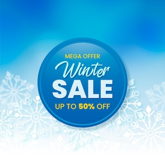 Winter sale promo with realistic elements