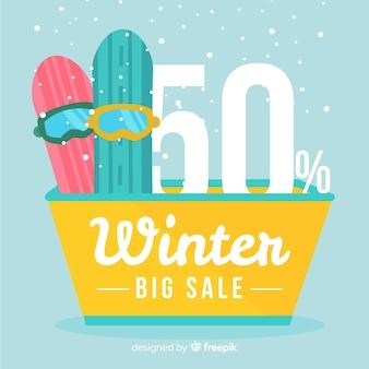 冬の販売スノーボードの背景