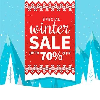 イラスト付きの冬セール特別割引