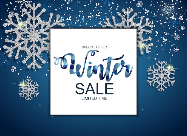 Winter sale special offer banner