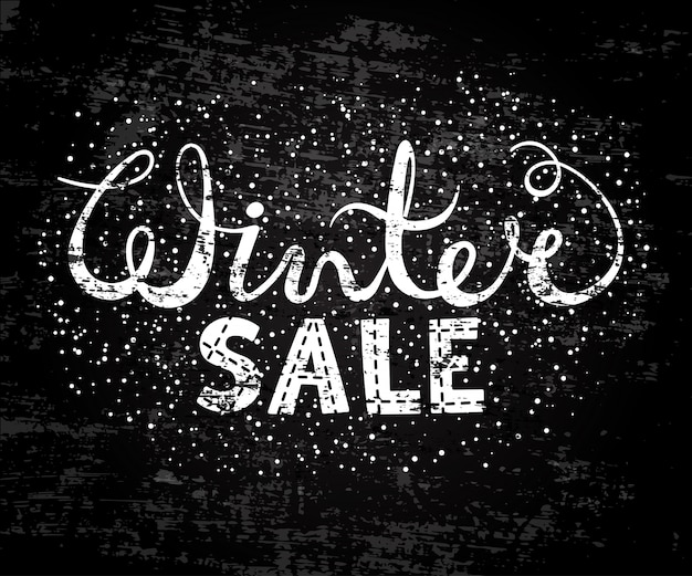 Winter sale text lettering