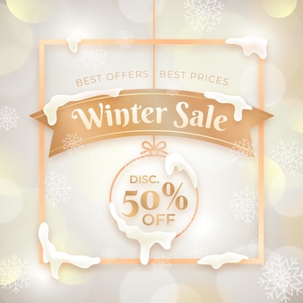 Winter sale with special discount illustration