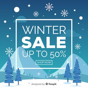 Winter sales banner