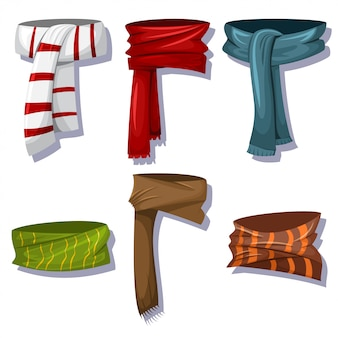 Winter scarves and shawls set for men and women