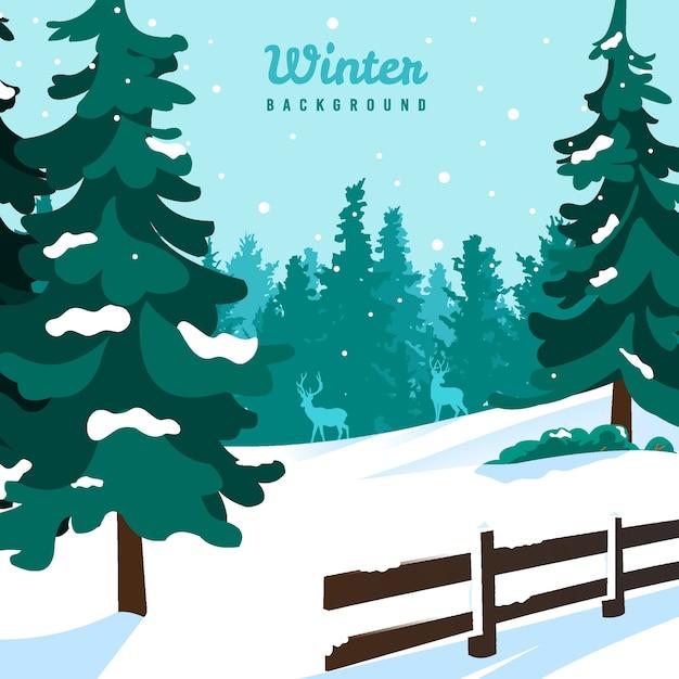 겨울 풍경 배경 그림