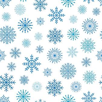 雪片、ベクトルイラストと冬のシームレスな背景