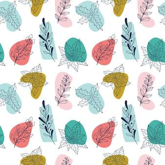 크리스마스 식물과 열매 미슬토 포인세티아 홀리 모더와 함께 겨울 원활한 식물 패턴...