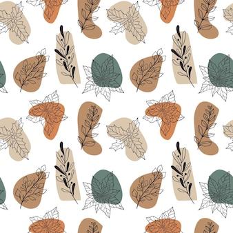 クリスマスの植物とベリーのヤドリギポインセチアホリーモデラーと冬のシームレスな植物パターン...