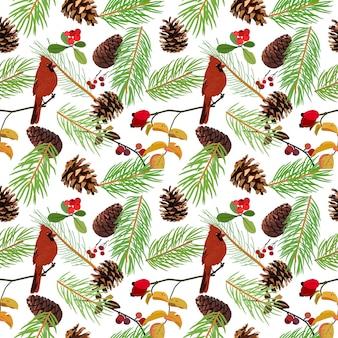 Winter seamless pattern background