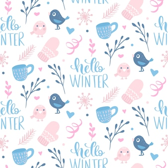 Winter seamless pattern.
