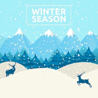 Winter season background