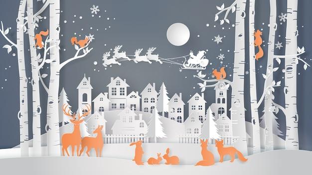 Winter season and merry christmas .