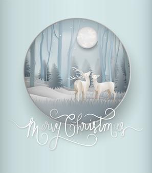 Winter season of reindeer