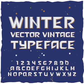 Winter snow alphabet with typeface editable text with isolated letters and digits