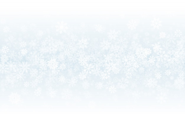 Winter snow blank light abstract background