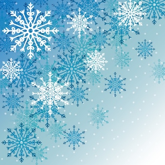 Winter snow or snowflake