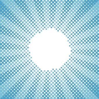Winter snow round sunburst halftone blue pattern