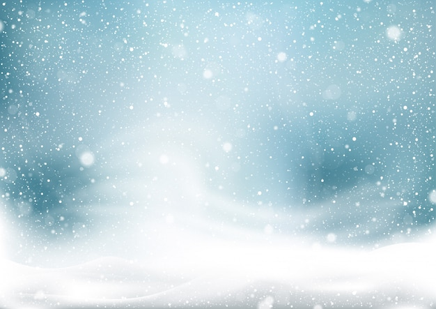 Winter snow storm background