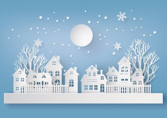 Winter Snow Urban Countryside